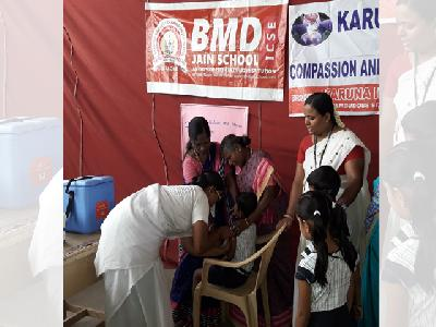 MEDICAL CAMP - DPT & TD VACCINATION