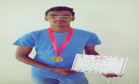 R.PREMKUMAR, IX - A , for Winning GOLD MEDAL in LONG JUMP at the National level Athletics meet, Pune.